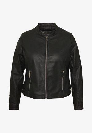 TAB COLLAR BIKER JACKET - Veste en similicuir - black