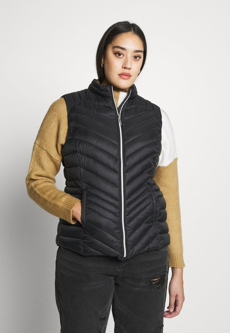 CAPSULE by Simply Be - LIGHTWEIGHT PADDED GILET - Smanicato - black