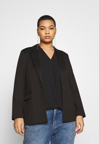 CAPSULE by Simply Be - PONTE - Blazer - black - 0