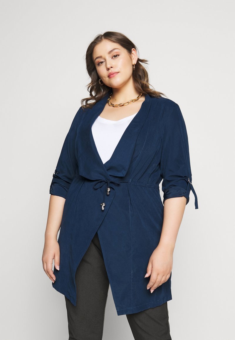 CAPSULE by Simply Be - WATERFALL JACKET - Manteau court - navy