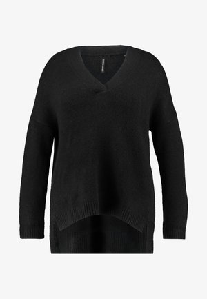 ELEVATED ESSENTIALS V NECK JUMPER - Jumper - black