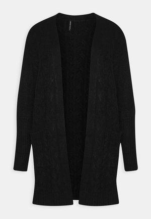 COSY LONGLINE DEEP CUFF CARDI - Vest - black