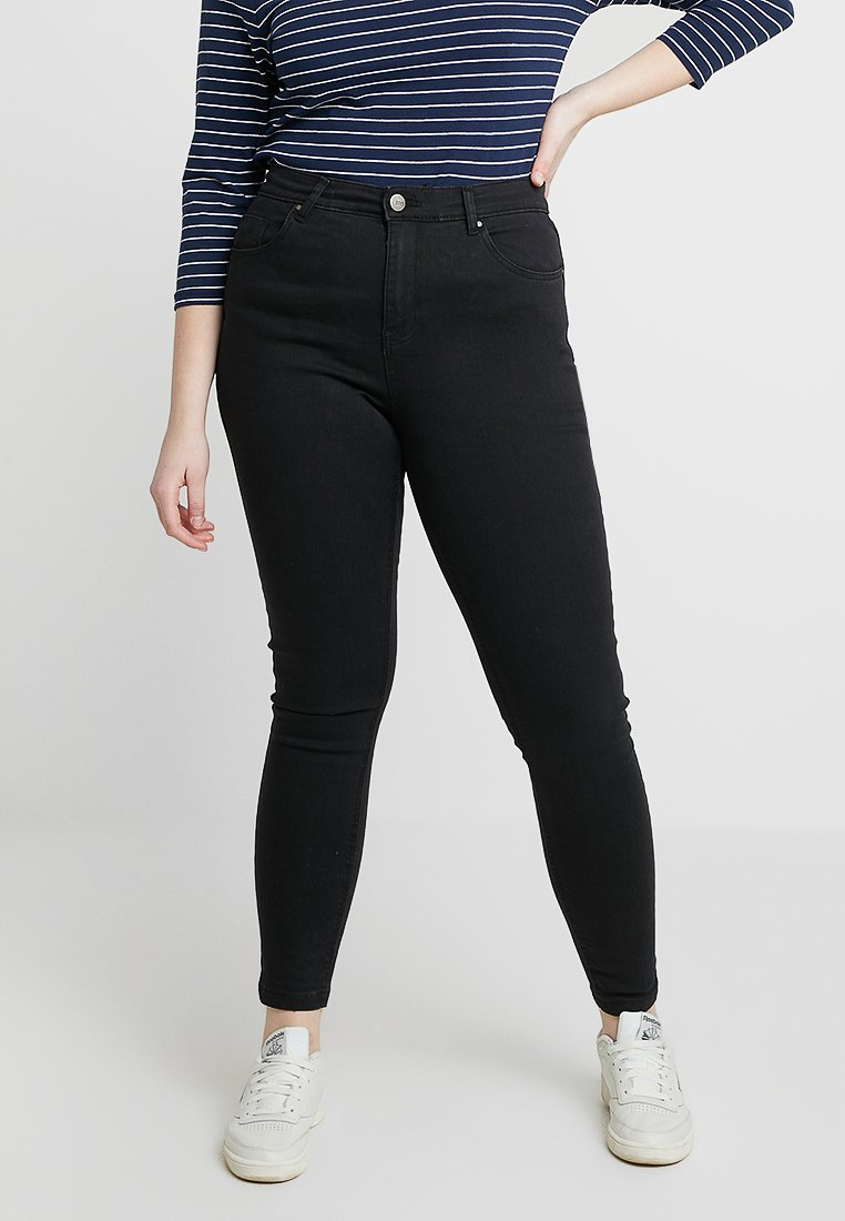 CAPSULE by Simply Be - LUCY HIGH WAIST SUPER SOFT - Jeans Skinny Fit - black