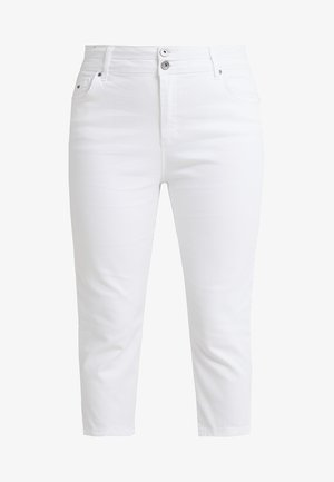 SHAPE SCULPT CROP - Jeans slim fit - white