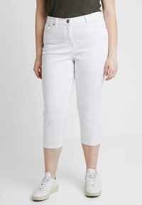 CAPSULE by Simply Be - EVERYDAY CROP - Jeans Skinny Fit - white - 0