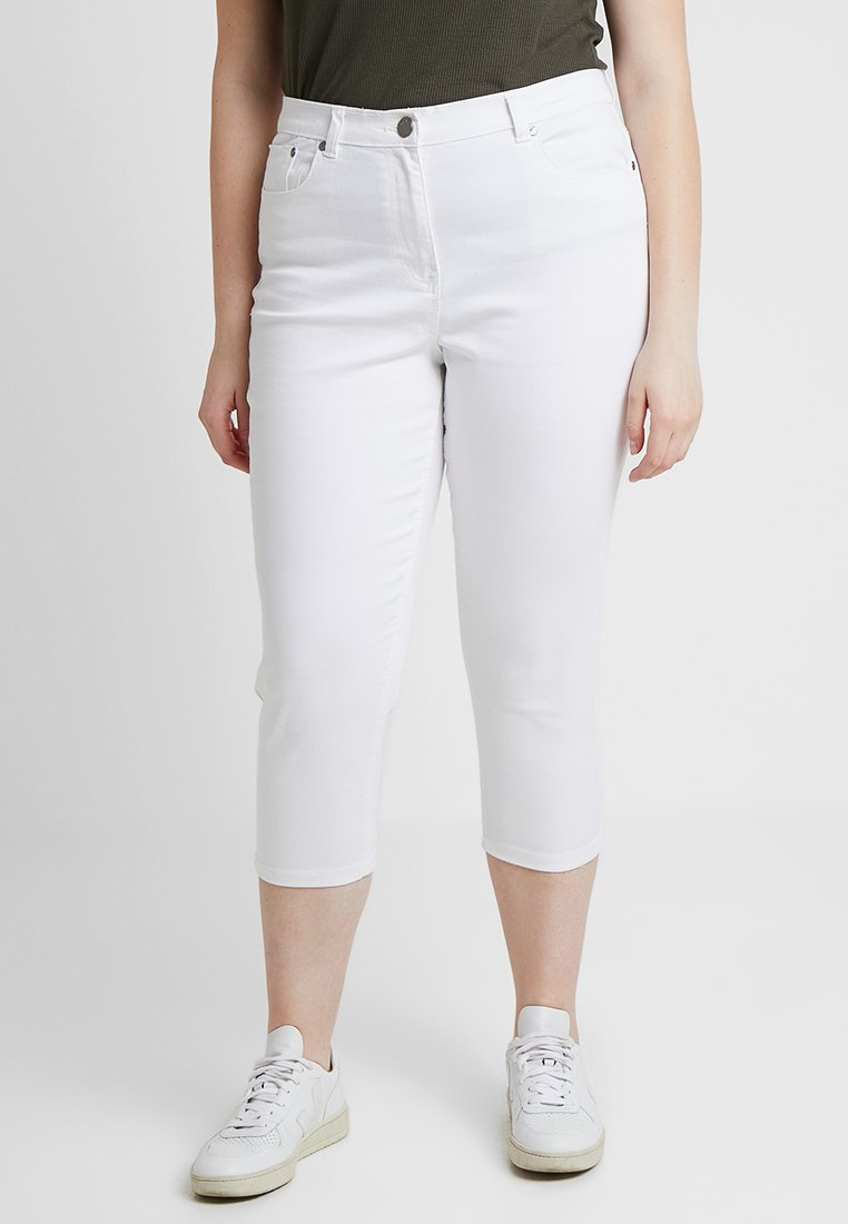 CAPSULE by Simply Be - EVERYDAY CROP - Jeansy Skinny Fit - white