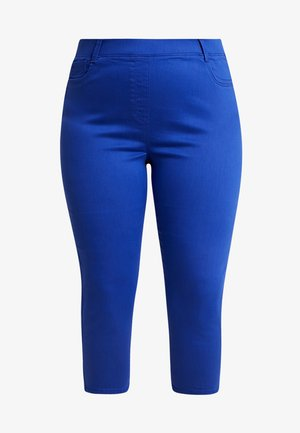 AMBER CROP - Jeans Skinny Fit - bright blue