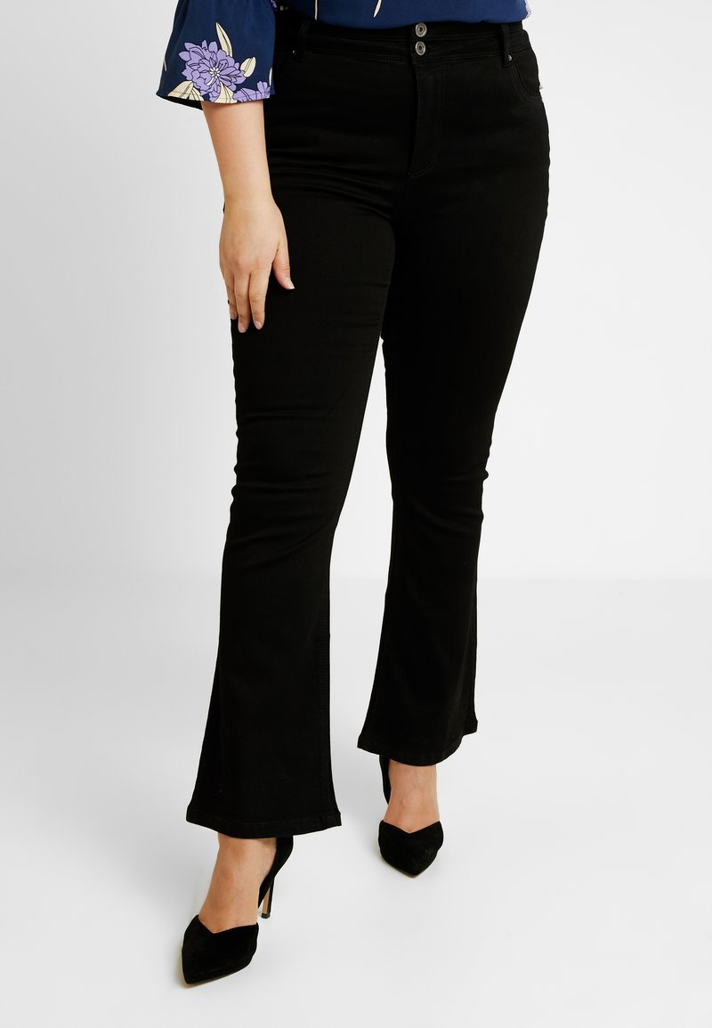 Simply Be - SHAPE - Jeans bootcut - black