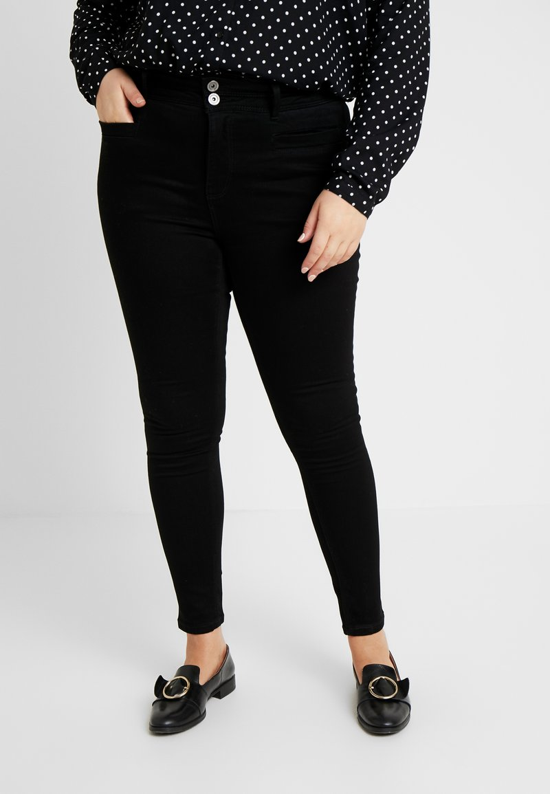 CAPSULE by Simply Be - SHAPE AND SCULPT APPLE FIT - Jeans Skinny Fit - black
