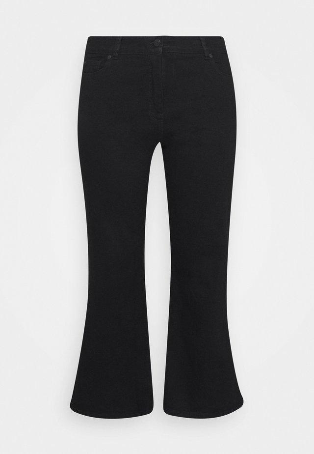 WIDE LEG - Bootcut jeans - black