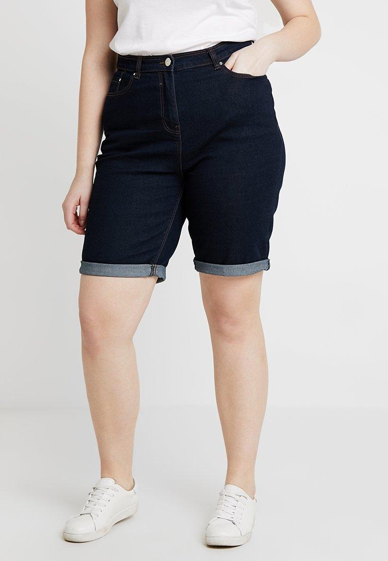 CAPSULE by Simply Be - EVERYDAY KNEE LENGTH SHORTS - Szorty jeansowe - indigo