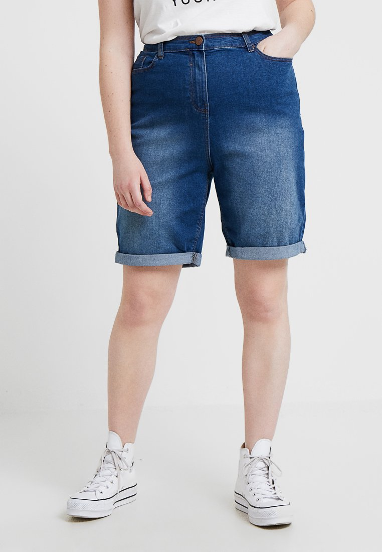 CAPSULE by Simply Be - EVERYDAY - Jeans Shorts - blue