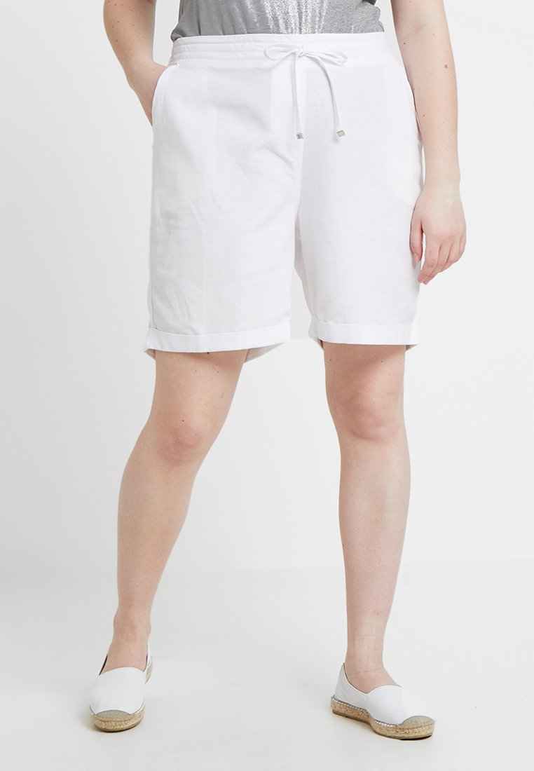 CAPSULE by Simply Be - EASY CARE MIX - Shorts - white