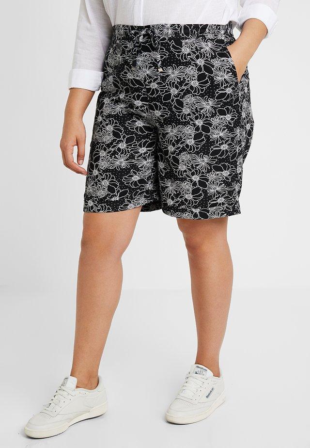 EASY CARE MIX - Shorts - black/white