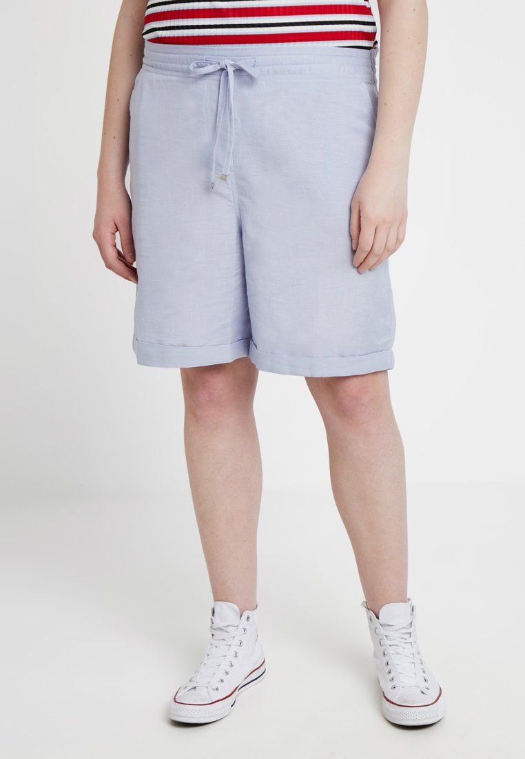 CAPSULE by Simply Be - EASY CARE MIX  - Shorts - pale blue