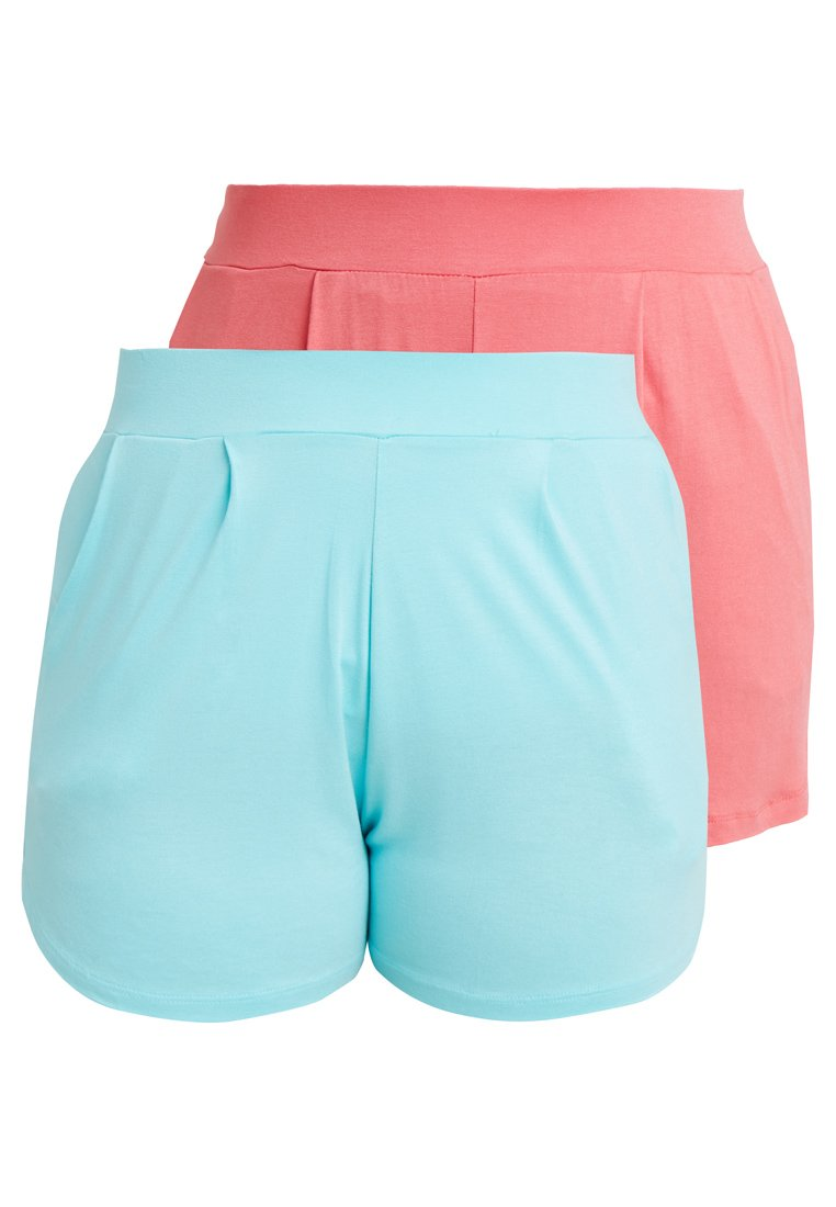 CAPSULE by Simply Be - 2 PACK - Shorts - aqua/coral