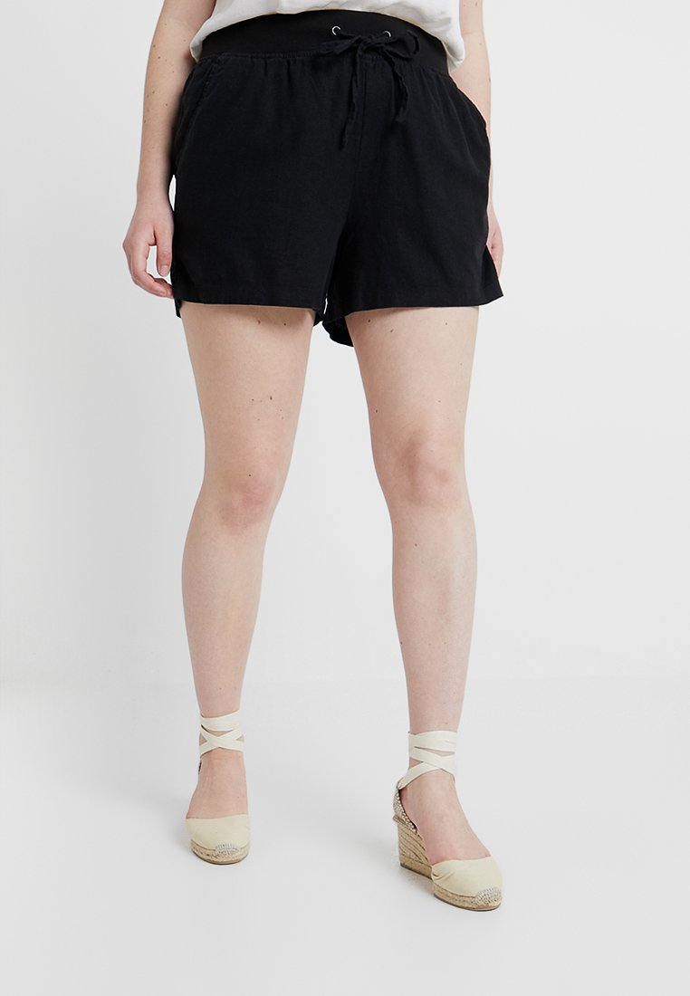 CAPSULE by Simply Be - SLOUCH MIX - Shorts - black