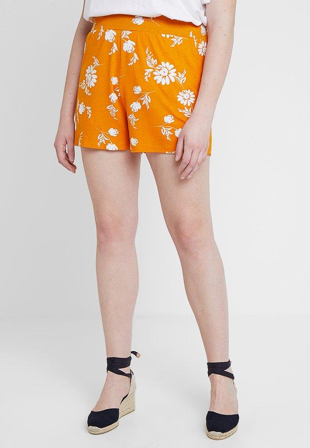 PRINT  - Shorts - yellow/white