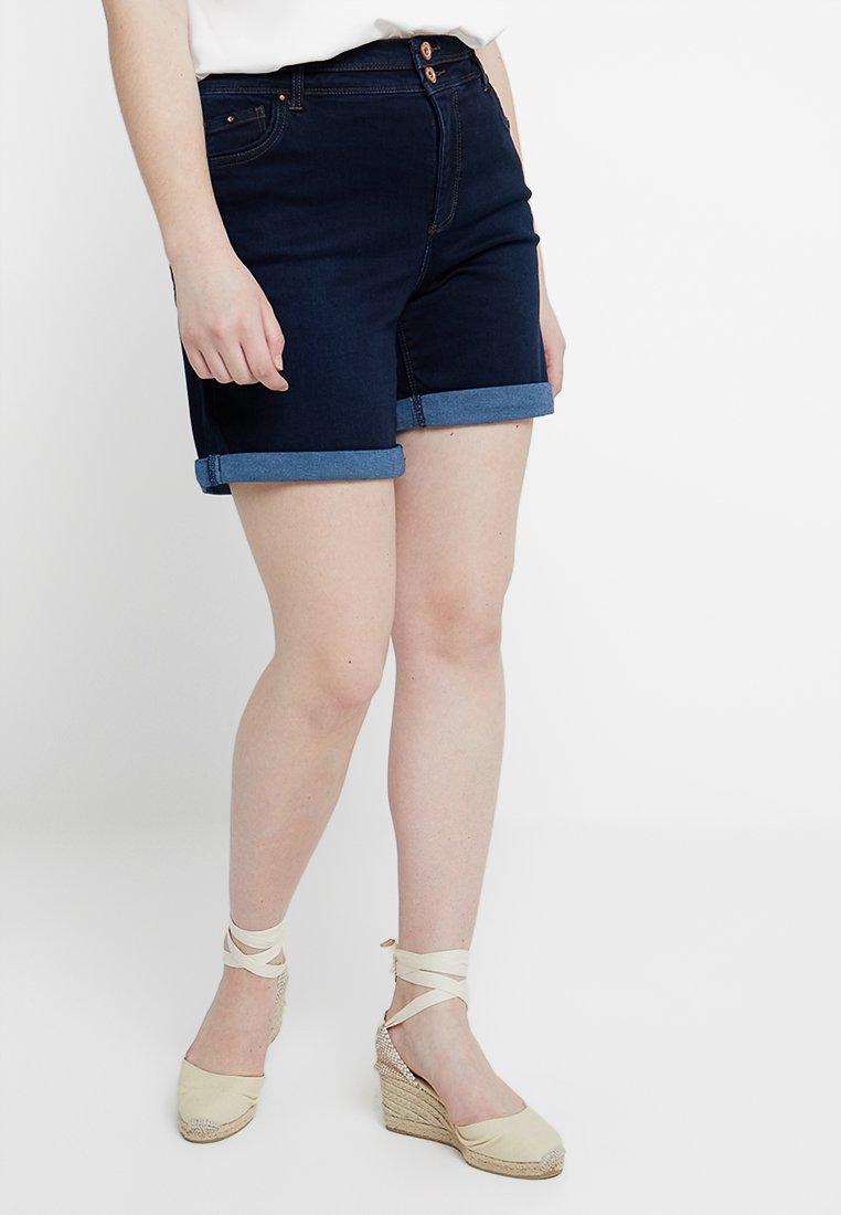 CAPSULE by Simply Be - SHAPE & SCULPT - Shorts di jeans - indigo
