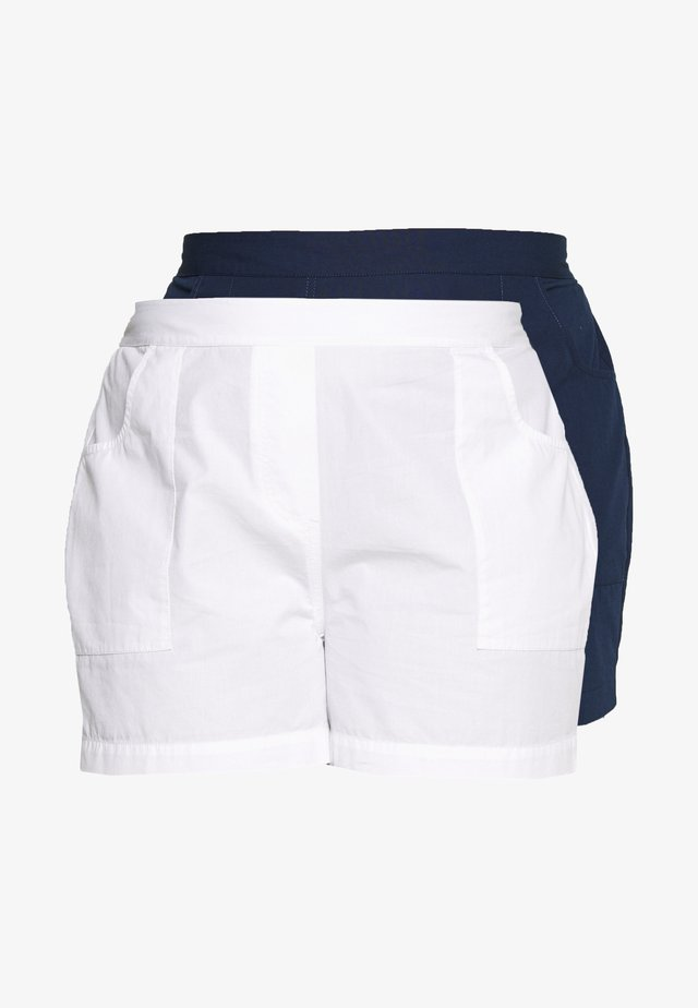 2 PACK - Shorts - navy/white