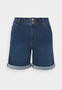 CAPSULE by Simply Be - SHAPE AND SCULPT - Denim shorts - mid blue - 4