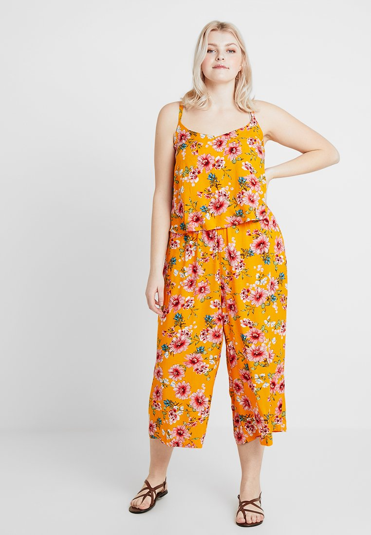 CAPSULE by Simply Be - LAYERED CULLOTTE - Overall / Jumpsuit /Buksedragter - yellow