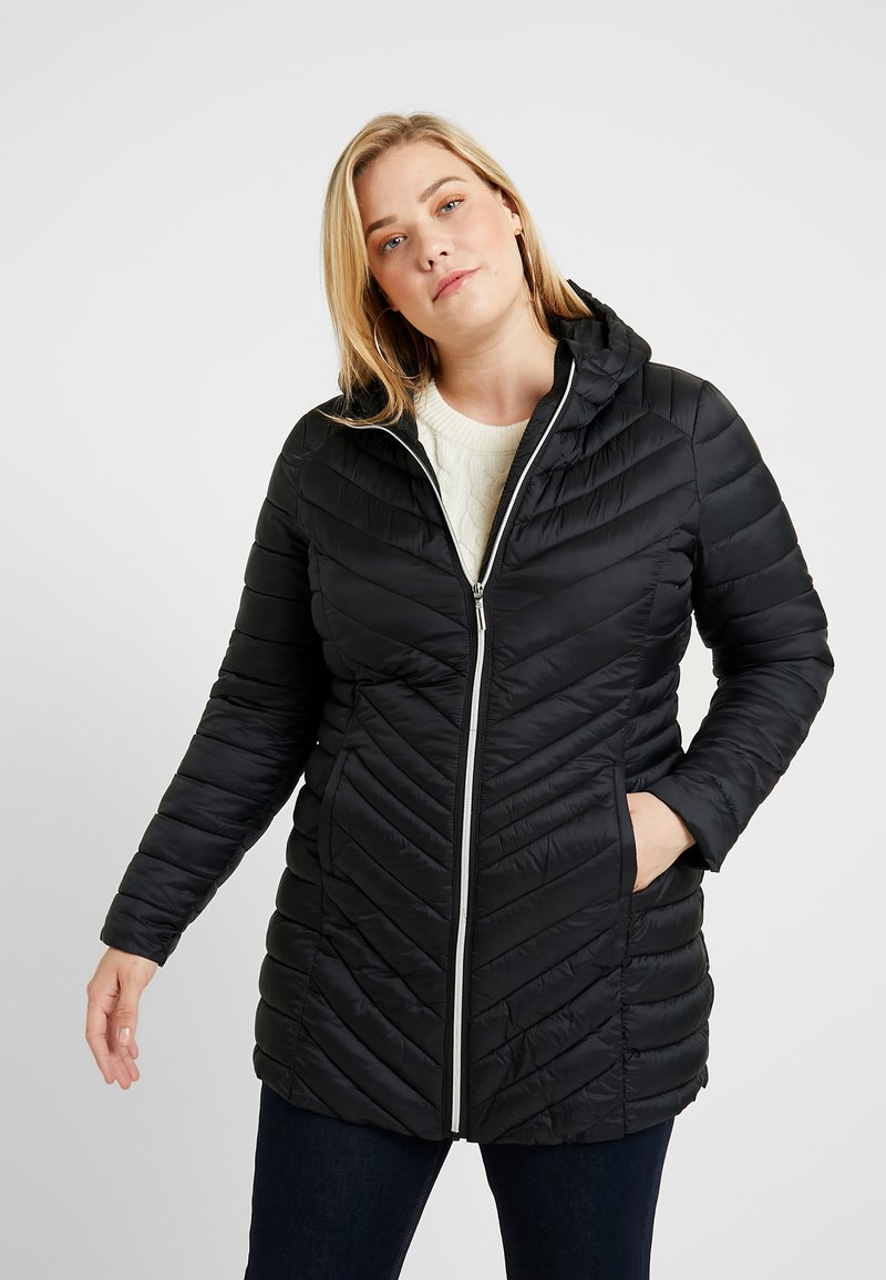 CAPSULE by Simply Be - LONG LIGHTWEIGHT PADDED JACKET - Parkaer - black