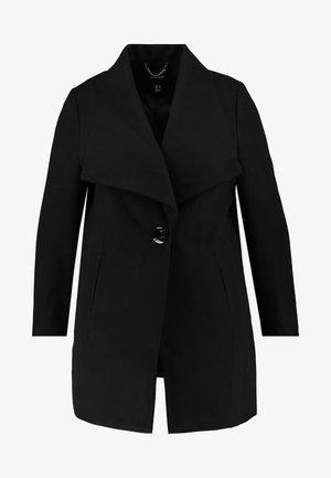 LARGE COLLAR COAT - Kort kåpe / frakk - black