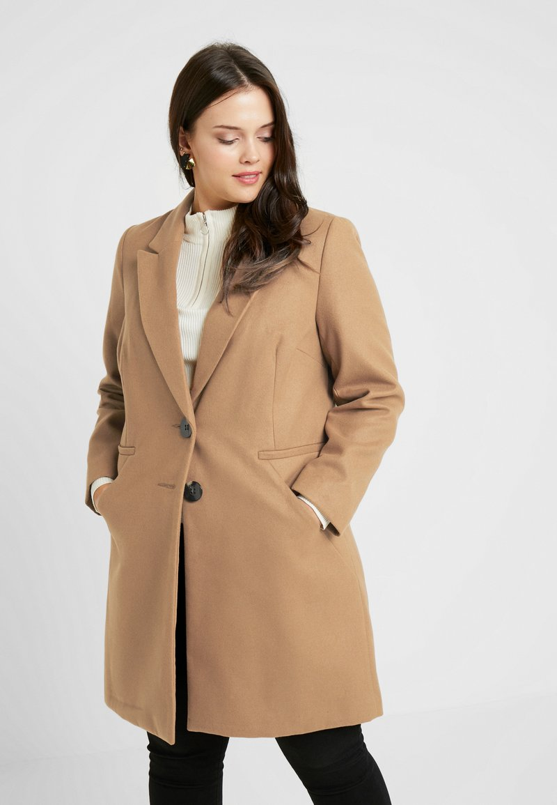 CAPSULE by Simply Be - SINGLE BREAST COAT - Short coat - camel