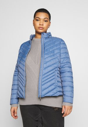 PACKAWAY SHORT LIGHTWEIGHT PADDED JACKET WITH CONCEALED HOOD - Välikausitakki - denim blue
