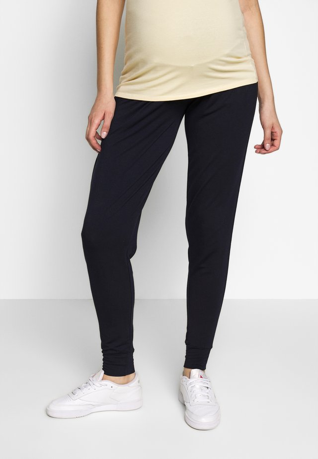 HIGH BAND LOOSE PANT - Spodnie treningowe - navy