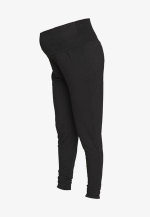 HIGH BAND LOOSE PANT - Teplákové kalhoty - black
