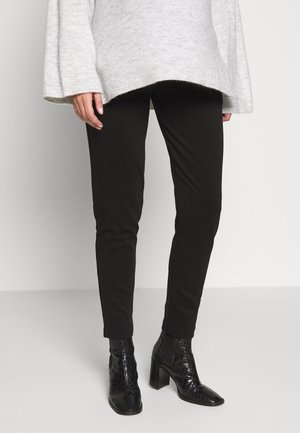 RELAXED SOFT PONTE PANT IN FULL LENGTH - Trousers - black