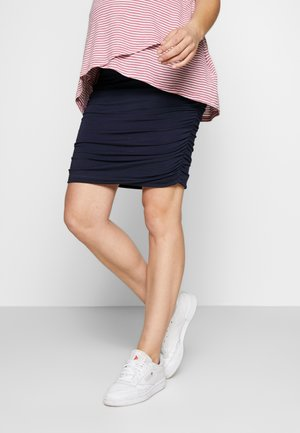 RUCHED FITTED SKIRT - Falda de tubo - navy