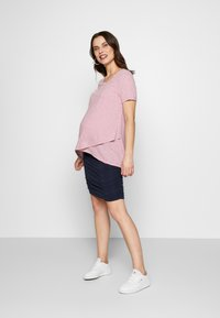 Cake Maternity - RUCHED FITTED SKIRT - Pencil skirt - navy - 1