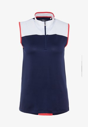 BLOCK SLEEVELESS  - Sportshirt - dark blue