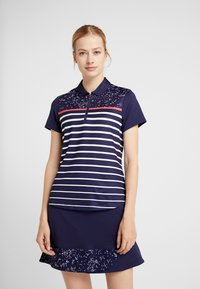 Callaway - CONFETTI PRINT WITH STRIPES - T-shirt sportiva - peacoat - 0