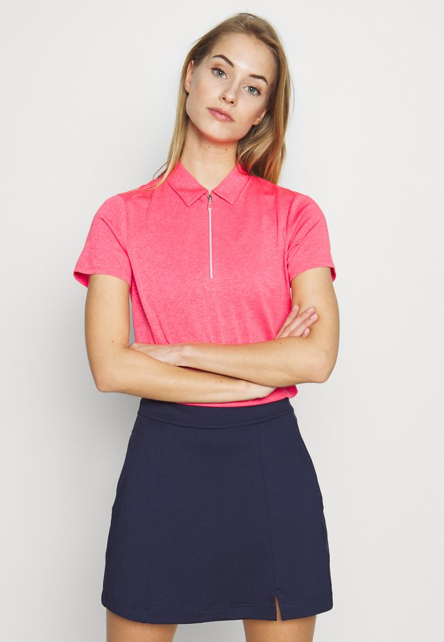 SHORT SLEEVE 1/4 ZIP - Funkční triko - camella rose heather