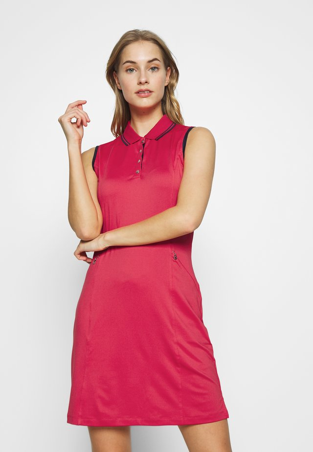 SOLID GOLF DRESS - Jurken - virtual pink