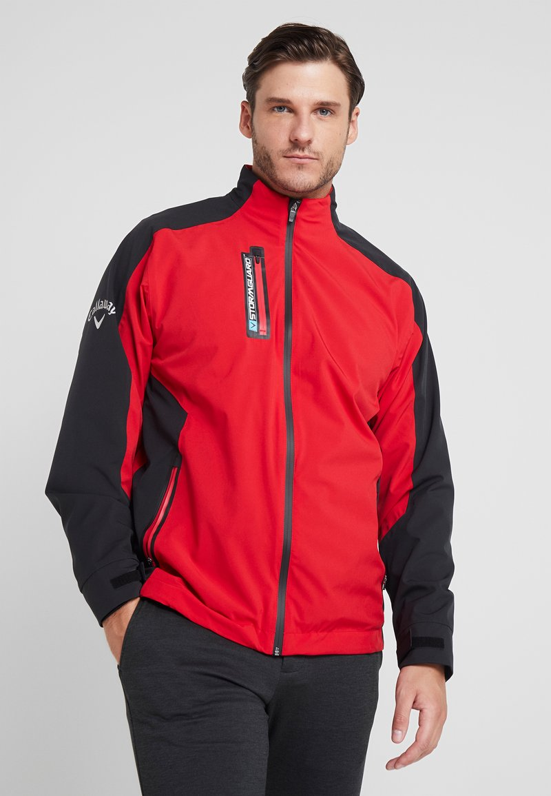 Callaway - STORMGUARD WATERPROOF JACKET - Waterproof jacket - tango red