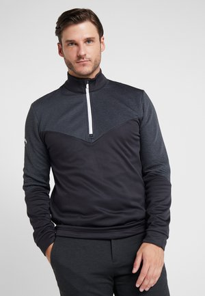 RIBBED OTTOMAN - Sweat polaire - caviar