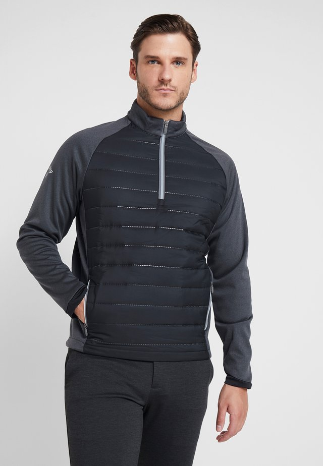 ULTRASONIC QUILTED TECHNICAL - Fleecepullover - caviar