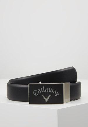 REVERSIBLE BELT WITH RUBER BUCKLE - Belt - caviar