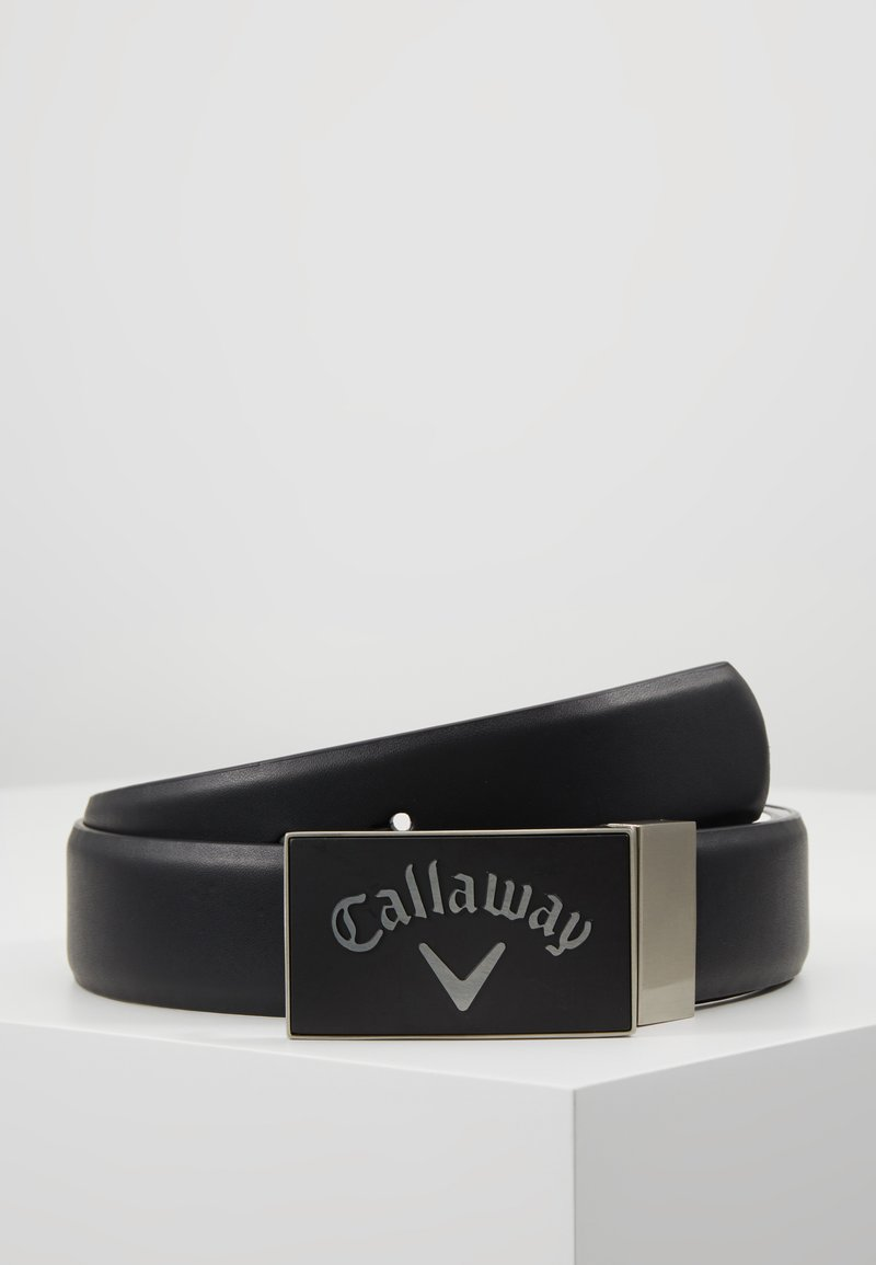Callaway - REVERSIBLE BELT WITH RUBER BUCKLE - Pásek - caviar