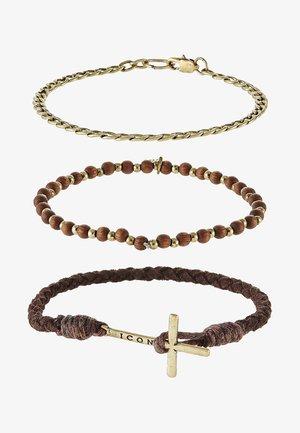 ONWARDS 3  PACK - Bracelet - brown