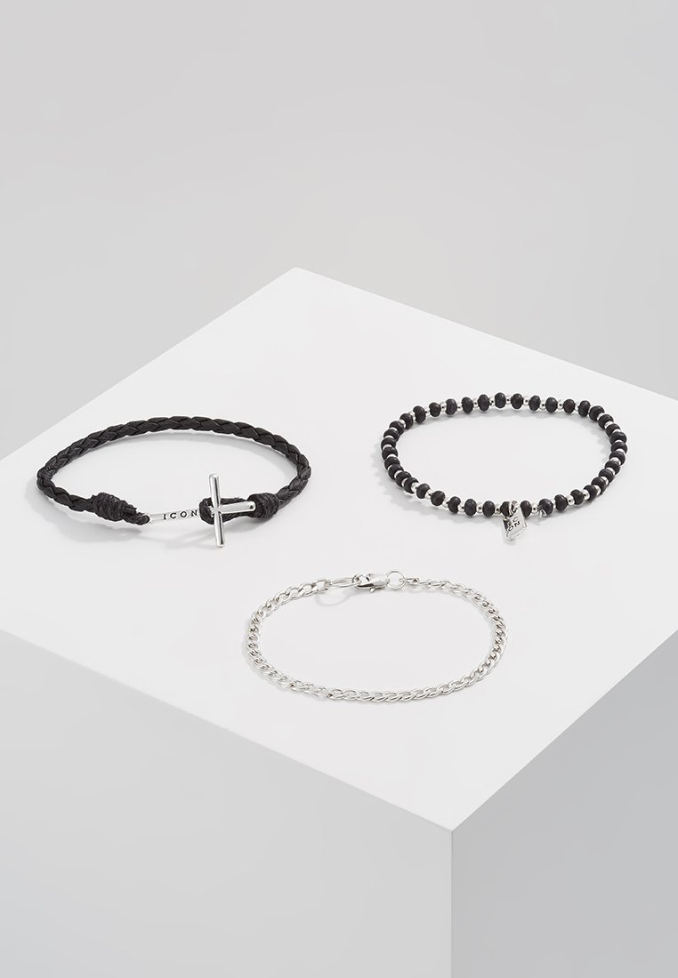 Icon Brand - ONWARDS 3  PACK - Náramek - black