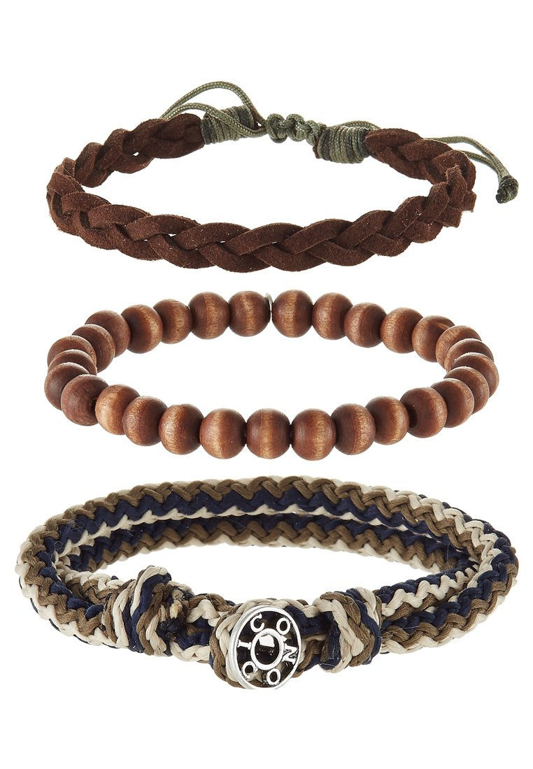 Icon Brand TRICOLOR COMBO 3 PACK - Armband - brown