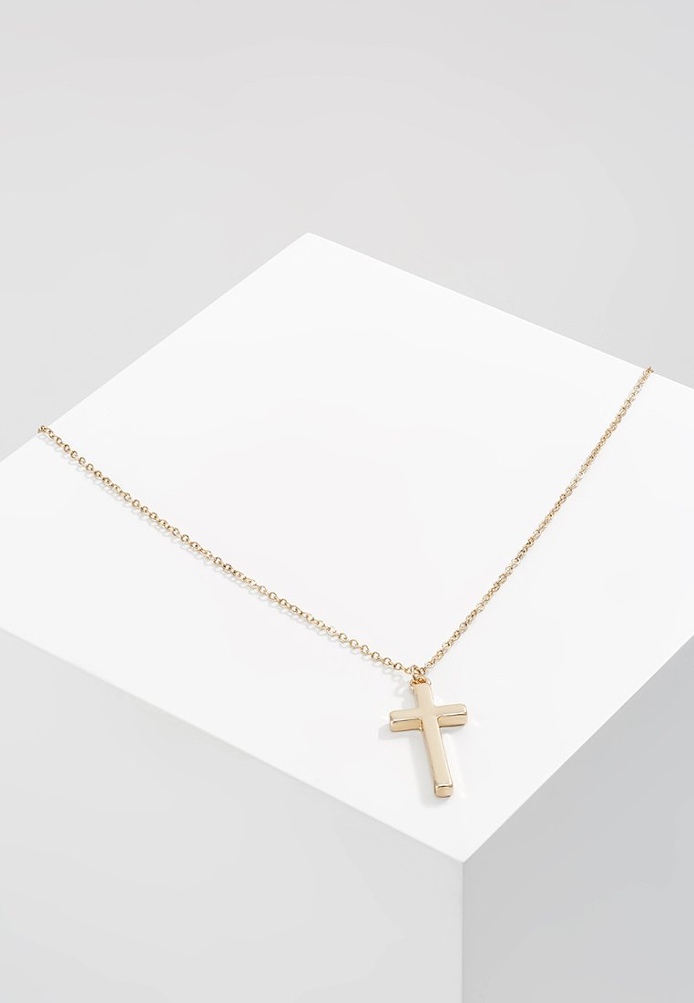 Icon Brand - CROSS TOWN NECKLACE - Collana - gold-coloured