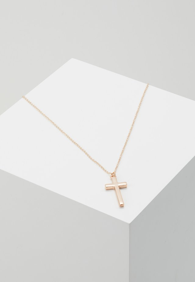 CROSS TOWN NECKLACE - Halskette - gold-coloured