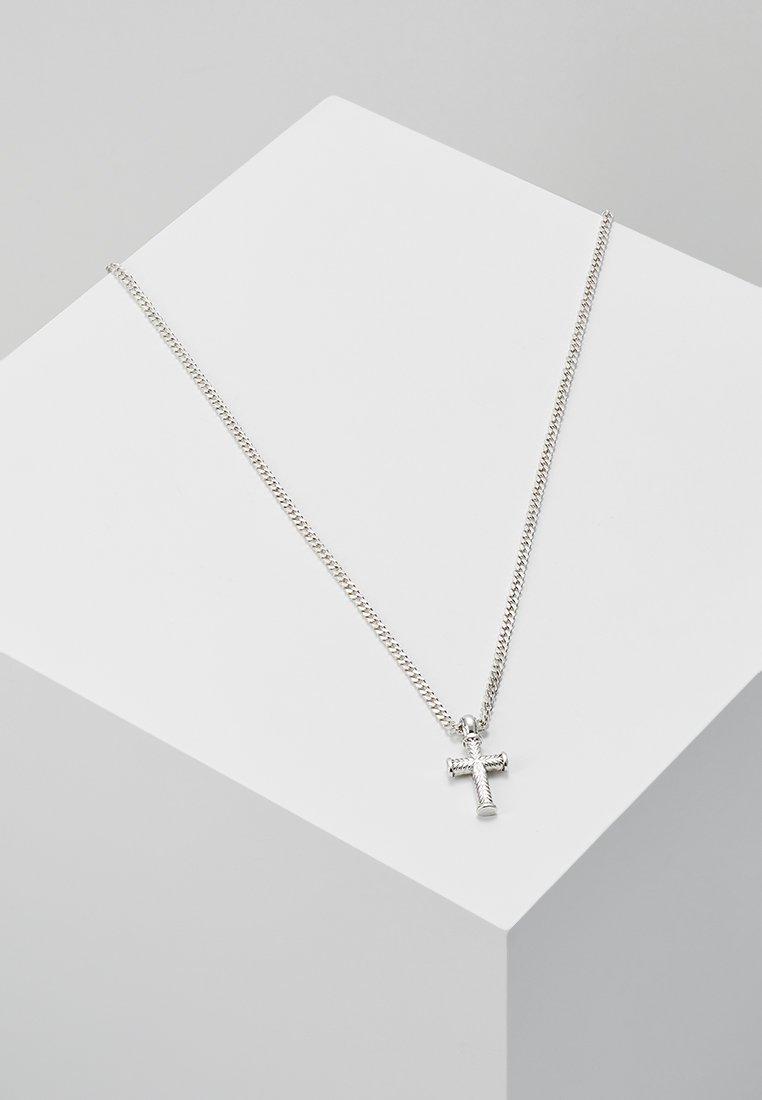 Icon Brand - MINI CROSS TO BEAR - Halskæder - silver-coloured